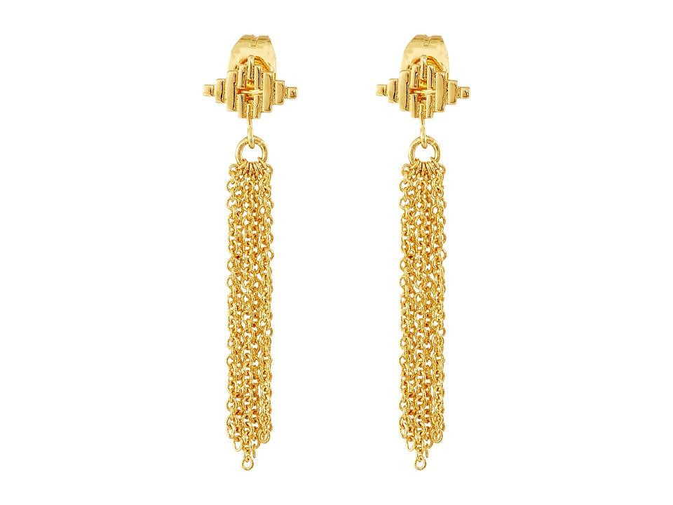 gorjana - Faryn Fringe Earrings (Gold) Earring