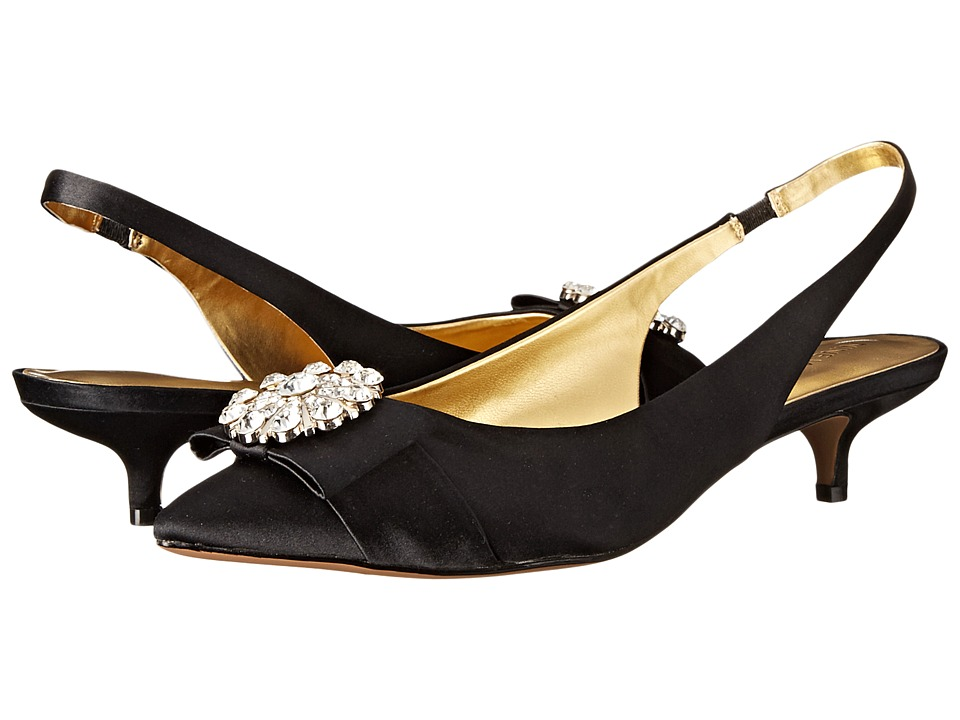 Nine West - Axyel (Black Satin) Women
