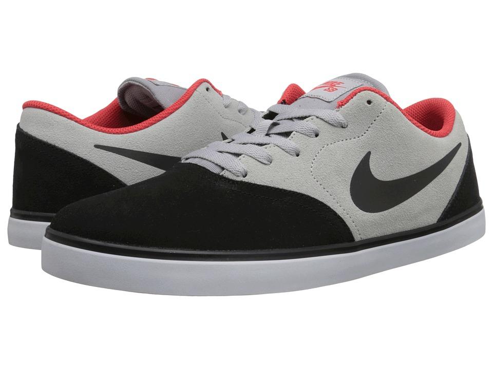 Nike SB - Check Premium (Black/Wolf Grey/Light Crimson/Black) Men's Skate Shoes