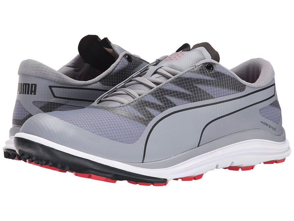 PUMA Golf - Biodrive (Quicksilver/Black/Cayenne) Men's Golf Shoes
