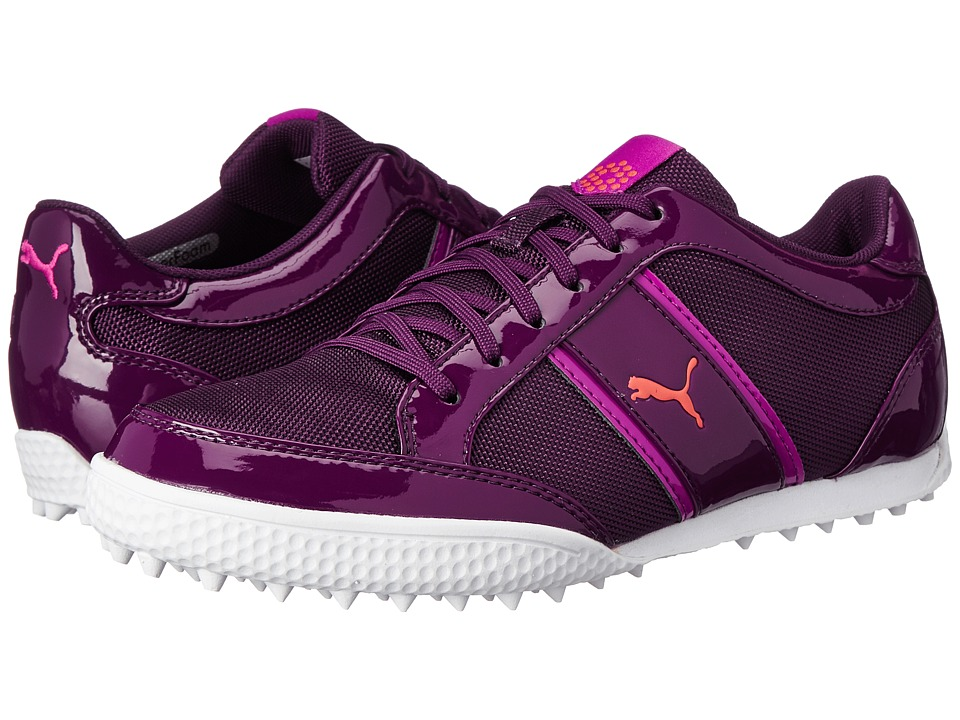 PUMA Golf - Monolite Cat Mesh (Italian Plum/Purple Wine/Cayenne) Women's Golf Shoes