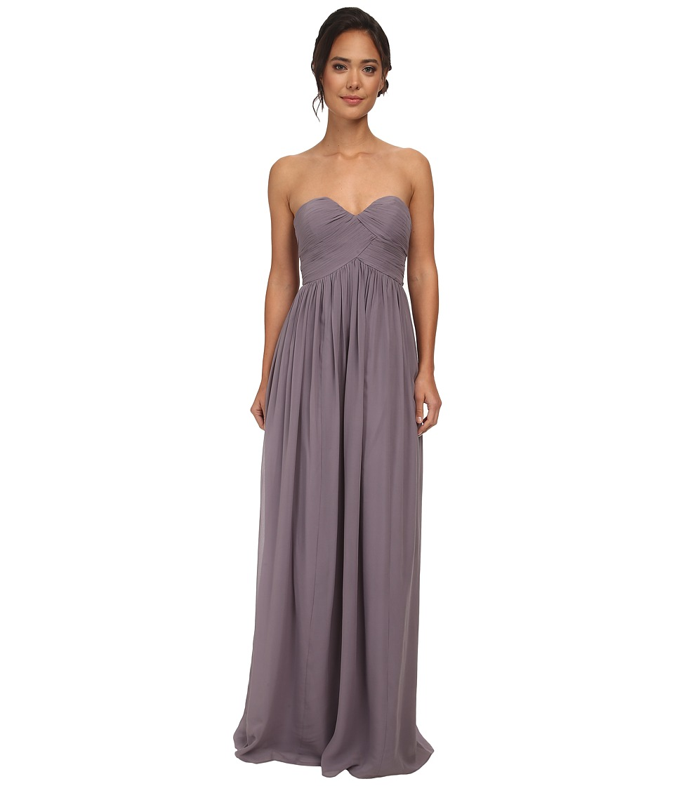 Donna Morgan - Laura Long Chiffon Gown Dress (Grey Ridge) Women's Dress