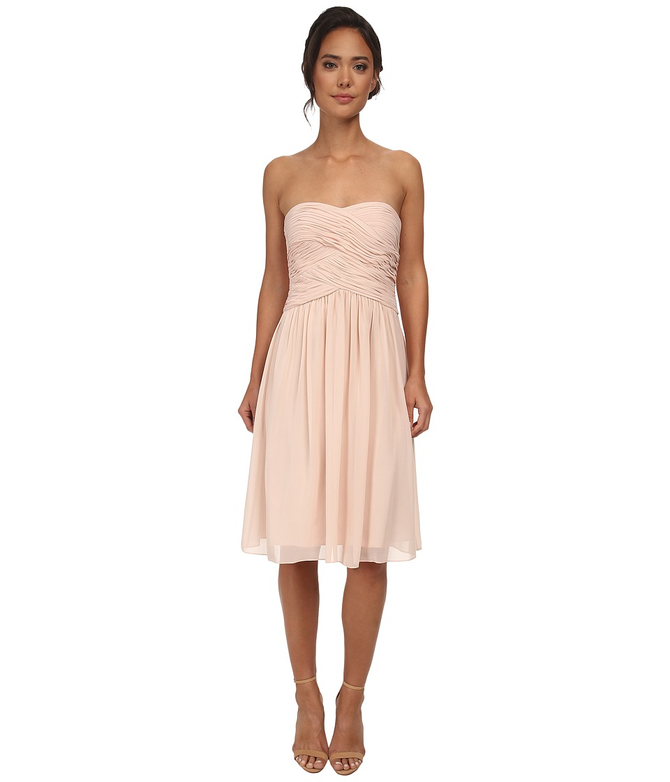 Donna Morgan - Anne Short Strapless Chiffon Dress (Chantilly) Women's Dress