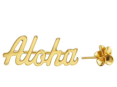 gorjana - Aloha Ear Climber Set Earrings (Gold) Earring