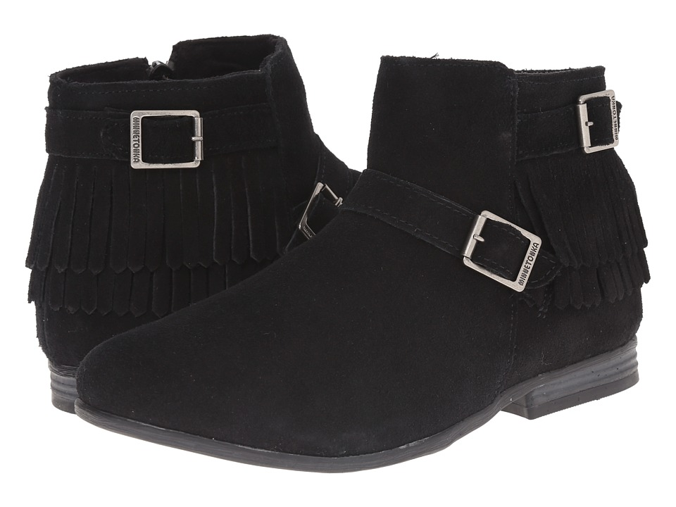 Minnetonka Rancho Boot (Black Suede) Women