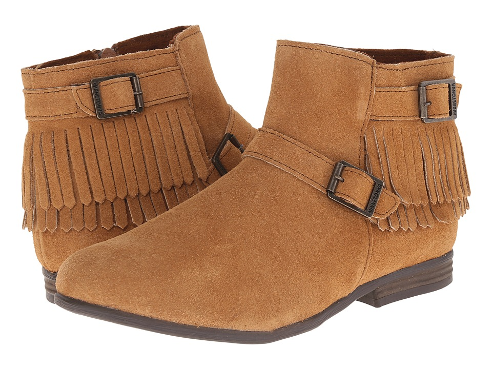 Minnetonka Rancho Boot (Taupe Suede) Women