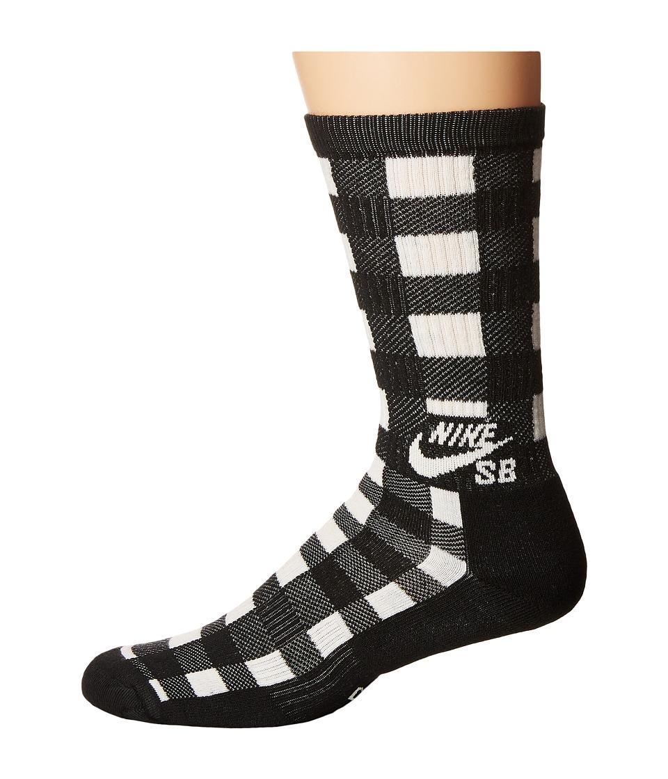 Nike SB - Buffalo Plaid Crew Sock (Black/Sail/Sail) Men
