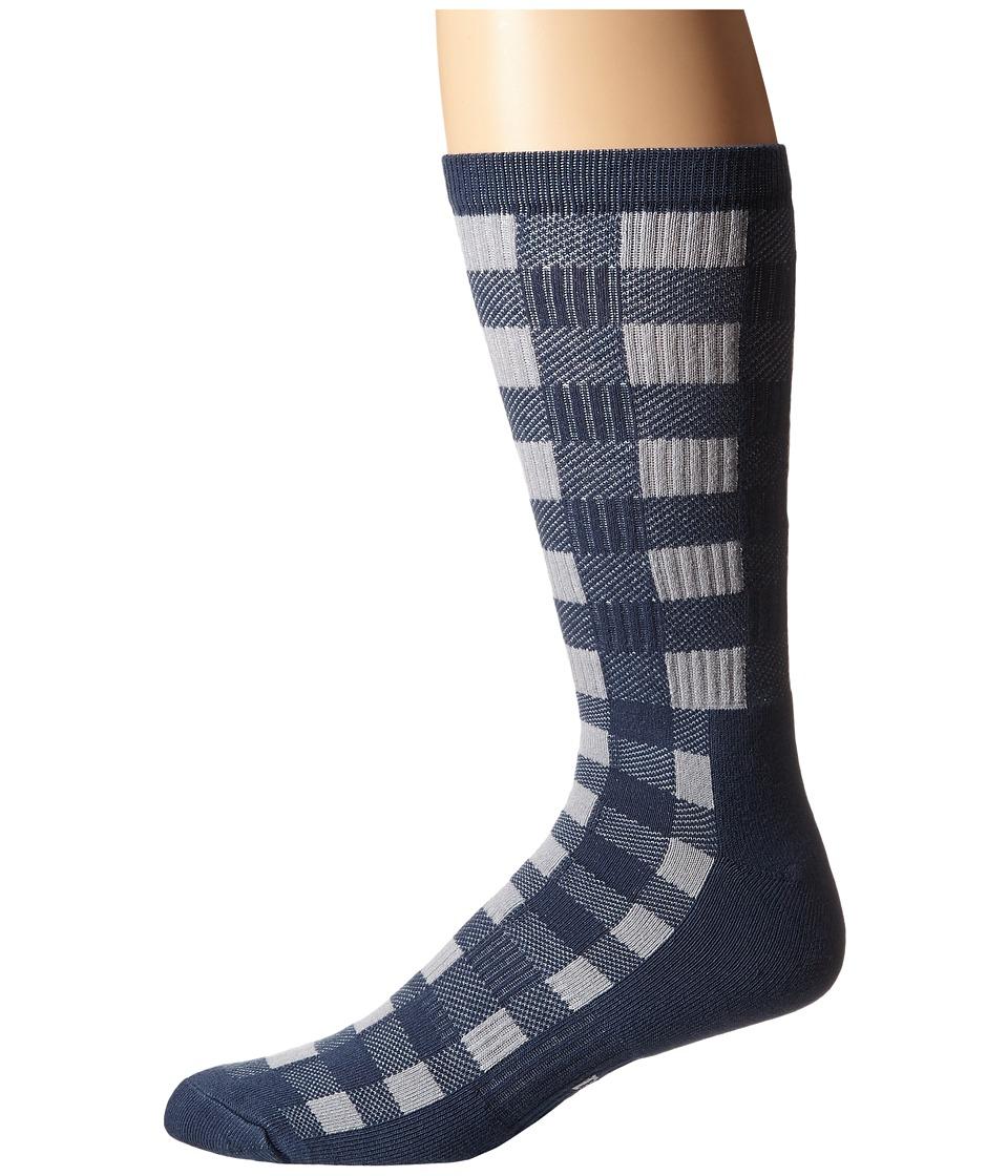 Nike SB - Buffalo Plaid Crew Sock (Squadron Blue/Wolf Grey/Wolf Grey) Men