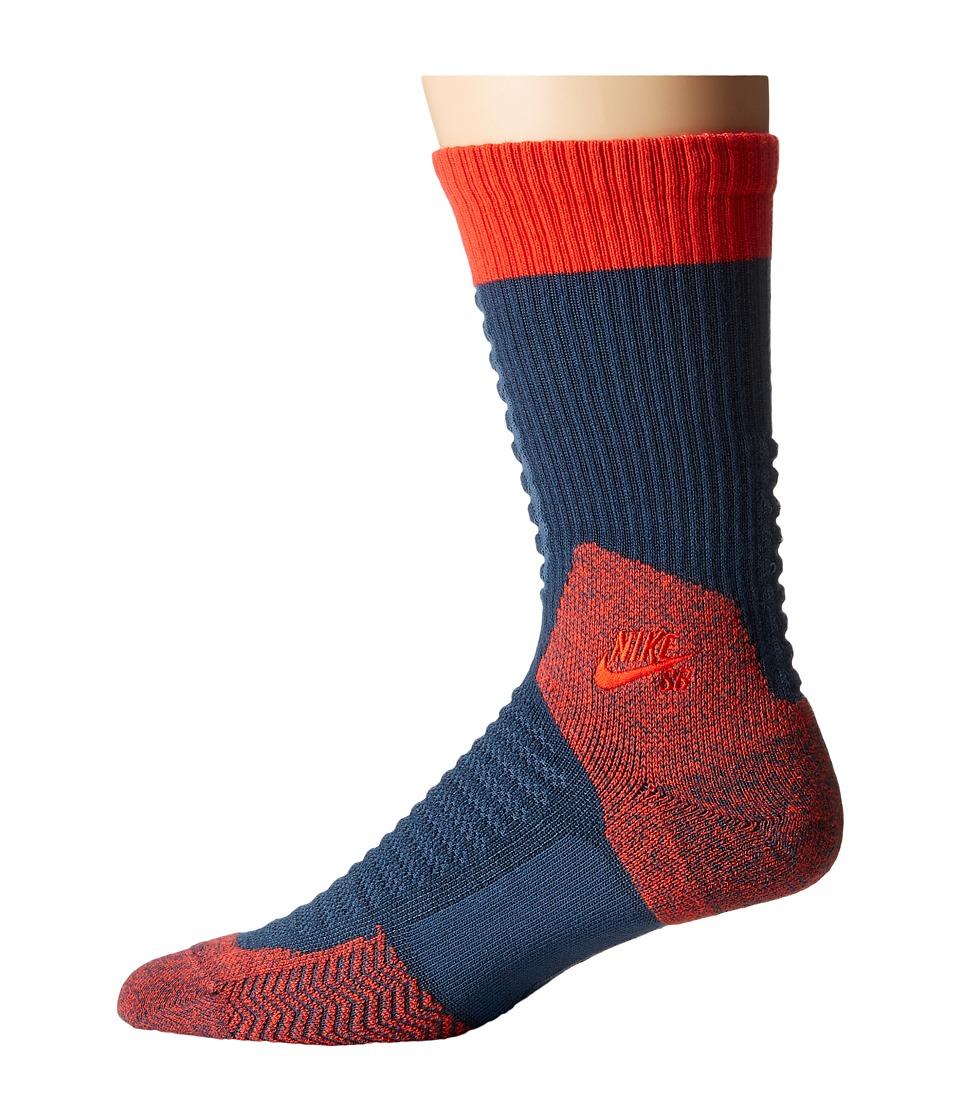Nike SB - Skate Crew 2.0 Sock (Squadron Blue/Light Crimson/Light Crimson) Crew Cut Socks Shoes