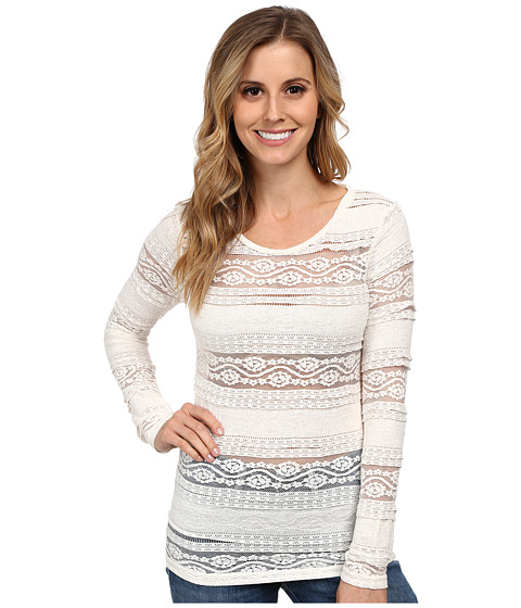 Ariat - Floral Baselayer (Whisper White 2) Women's Long Sleeve Pullover