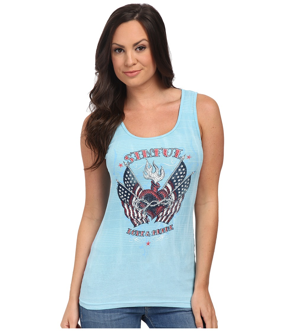 Affliction - Stance Tank Top (Spring Water) Women's Sleeveless