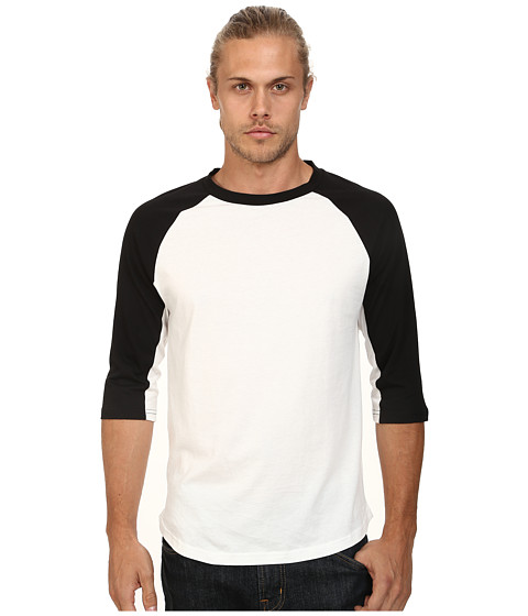 Alternative - Cotton Modal Baseball Tee (Black) Men