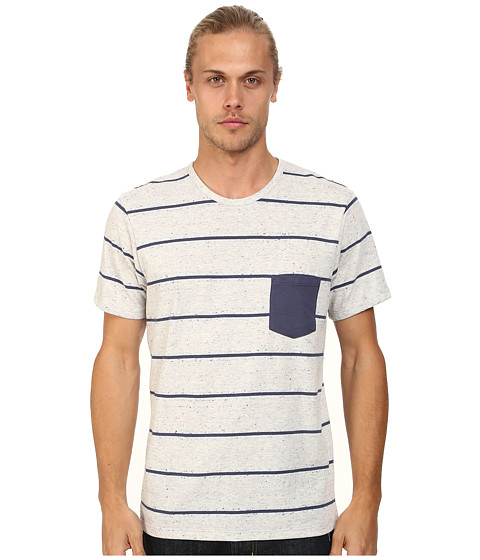 Alternative - Nep Jersey Pocket Crew (Eco Wheat Stripe) Men