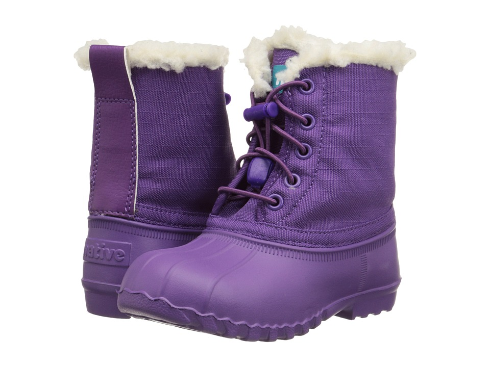 Native Kids Shoes - Jimmy Winter (Toddler/Little Kid) (Orchid Purple/Orchid Purple) Girls Shoes