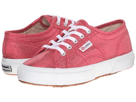 Superga Kids - 2750 LAMEJ (Toddler/Little Kid) (Red) Girls Shoes