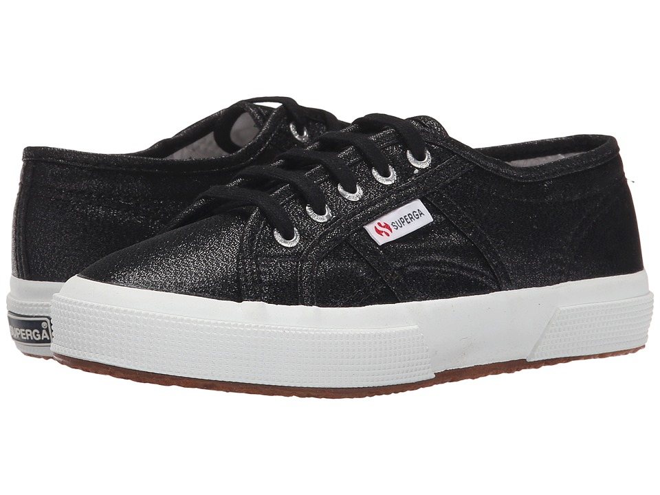 Superga Kids - 2750 LAMEJ (Toddler/Little Kid) (Black) Girls Shoes