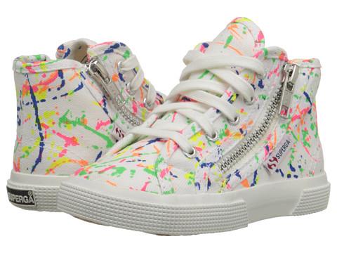 Superga Kids - 2224 FANCOTSPLASHJ (Infant/Toddler/Little Kid/Big Kid) (White Multi) Girls Shoes
