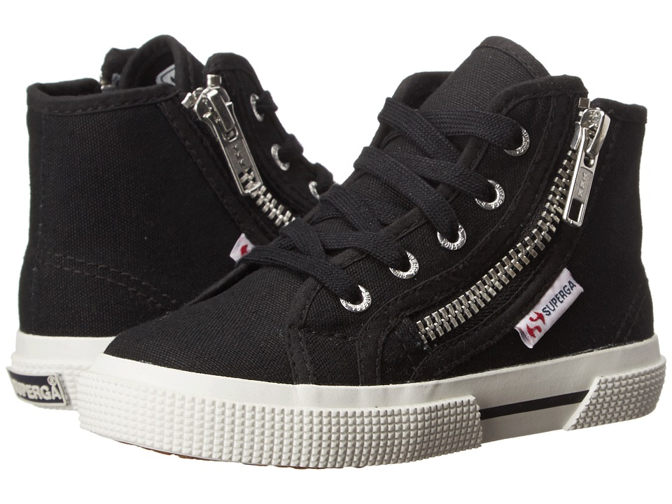 Superga Kids - 2224 COTDJ (Infant/Toddler/Little Kid/Big Kid) (Black) Kids Shoes