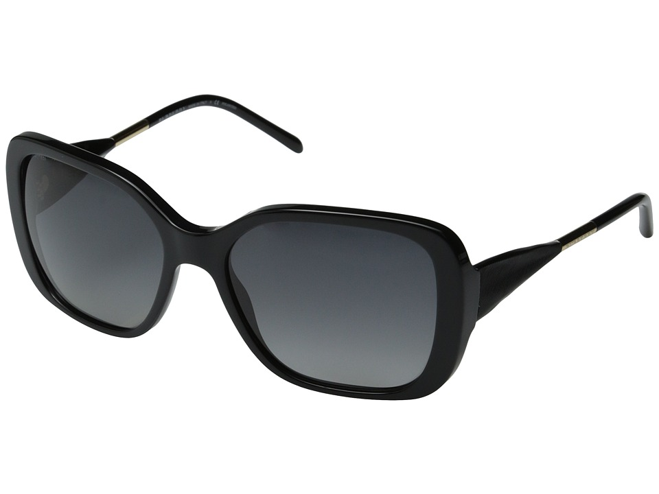 Burberry - BE4192 (Black/Gradient Grey Polarized) Fashion Sunglasses