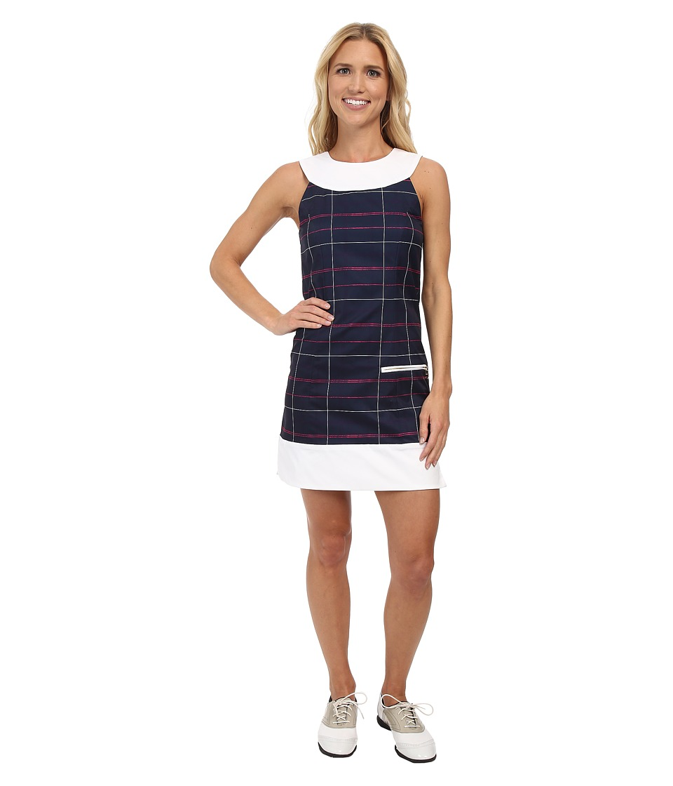 Fairway Fox - Kristin Dress (Plaid Navy) Women's Dress