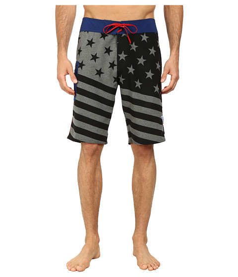 Volcom - Merry Kuh Boardshorts (Black) Men's Swimwear