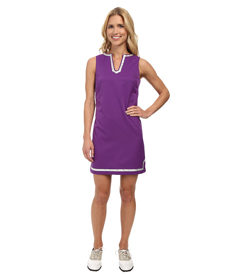Fairway Fox - Caroline Dress (Amaranth/Silver Trim) Women's Dress