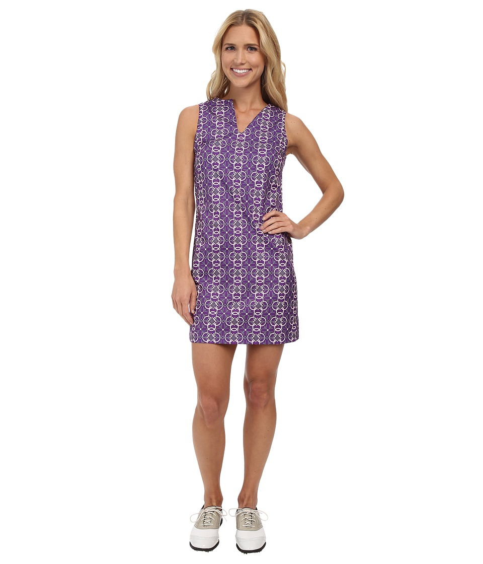 Fairway Fox - Caroline Dress (Chainlink Amaranth) Women's Dress