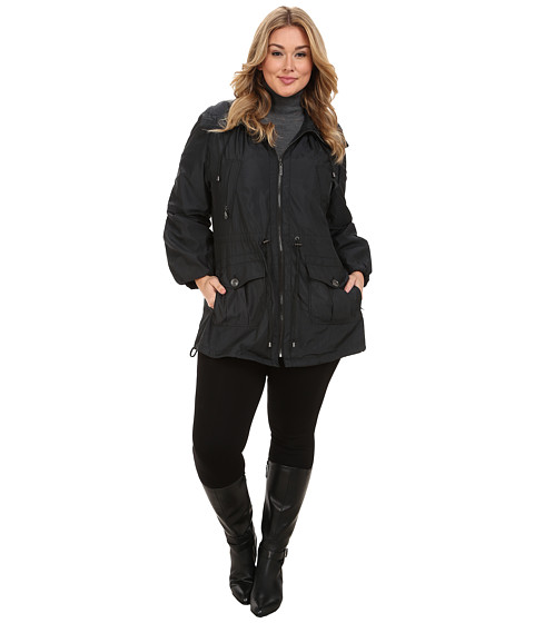 G.E.T. - Plus Size Maxine Jacket (Black) Women's Coat