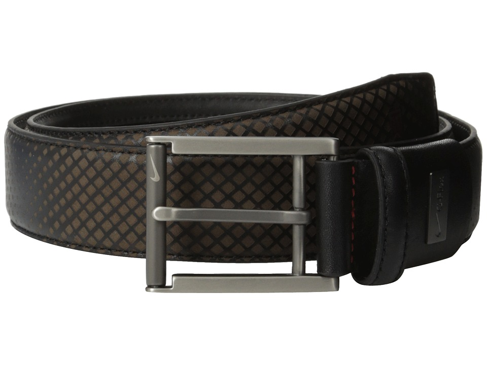 Nike - TW Laser G-Flex Belt (Black) Men's Belts