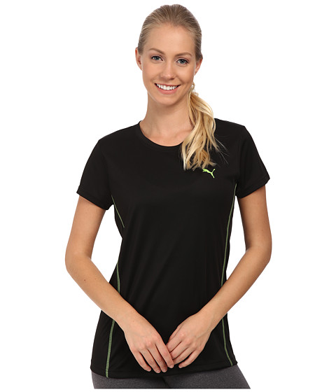 PUMA - Core Sport Performance Tee (Black/Jasmine Green) Women