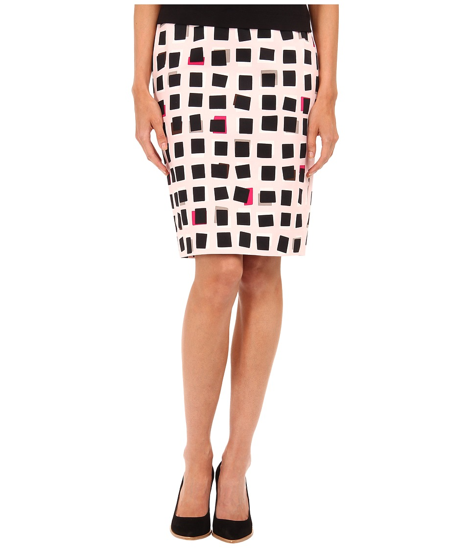 Kate Spade New York - Abstract Sweets Pencil Skirt (Pastry Pink) Women's Skirt
