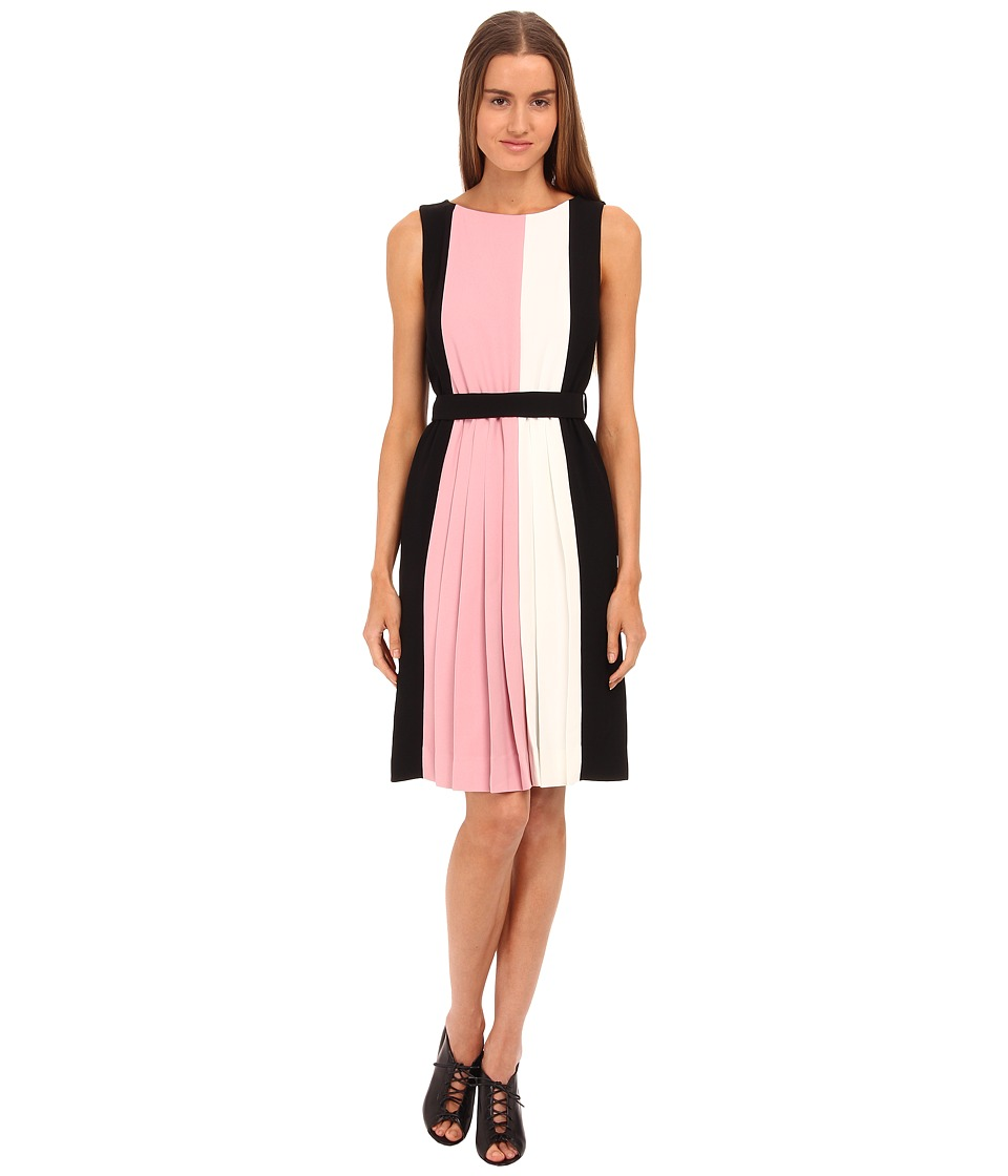 Kate Spade New York - Color Block Pleated Dress (Rose Jade Multi) Women's Dress