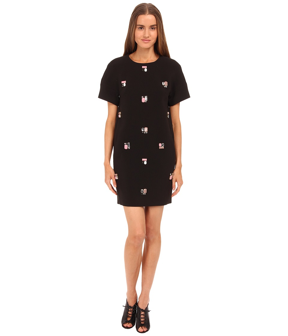 Kate Spade New York - Embellished Shift Dress (Black) Women's Dress