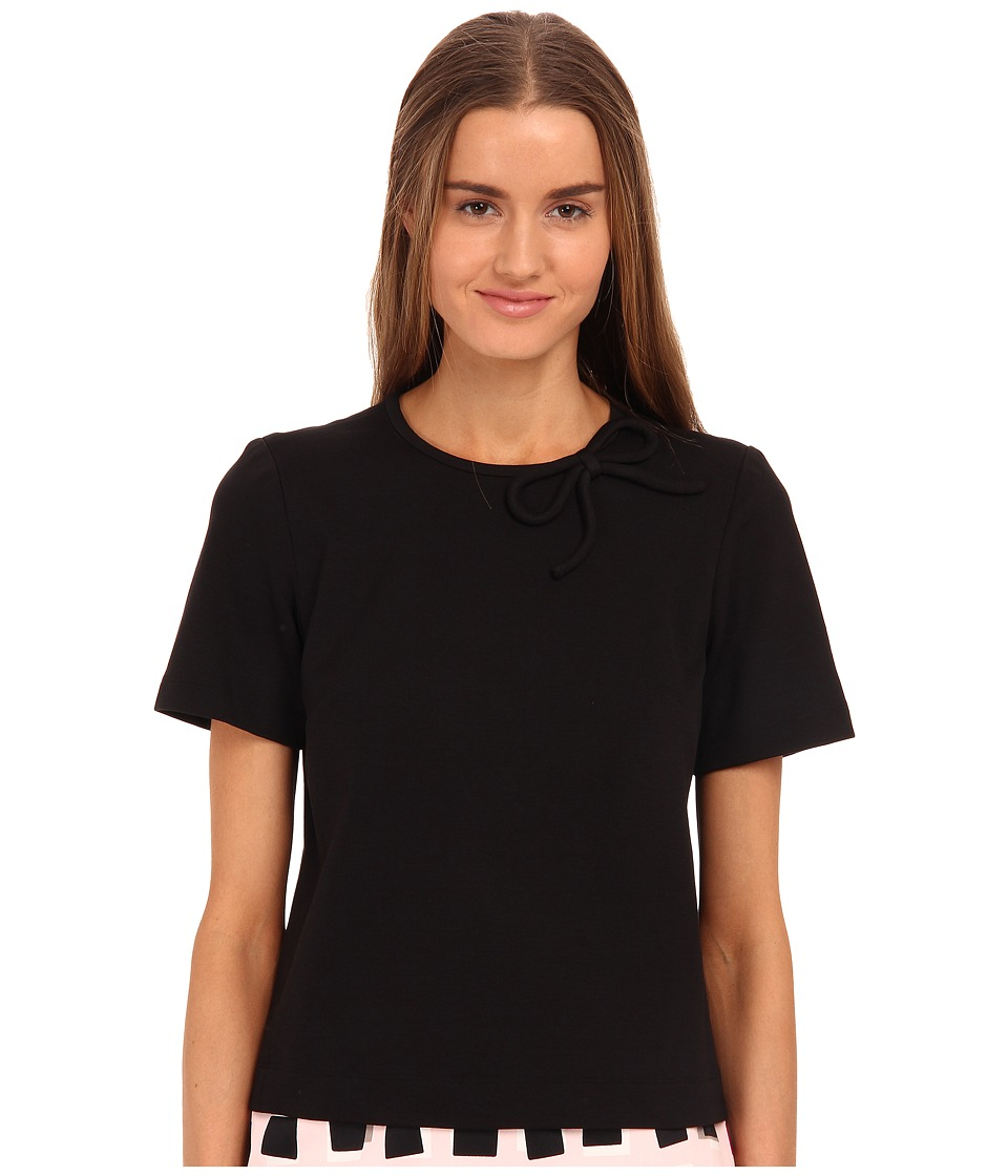 Kate Spade New York - Ponte Bow Neck Top (Black) Women's Clothing
