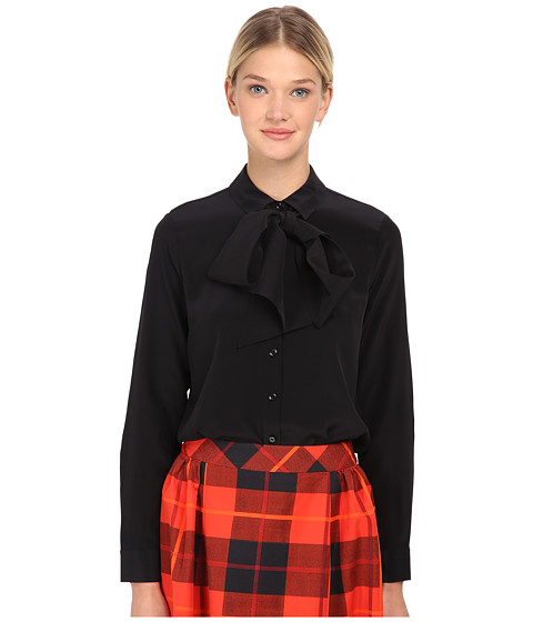 Kate Spade New York - Bow Blouse (Black) Women's Blouse