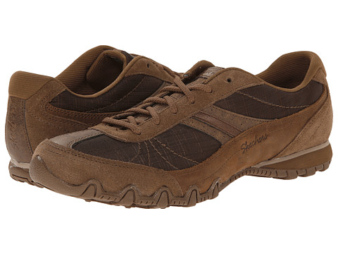 SKECHERS - Bikers - Abroad (Brown) Women's Lace up casual Shoes