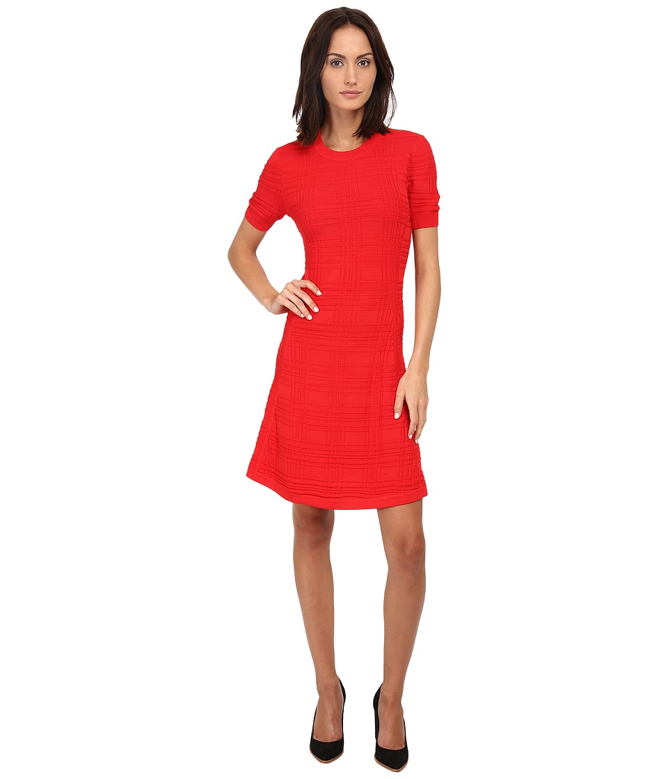 Kate Spade New York - Textured Scuba Dress (Lollipop Red) Women's Dress