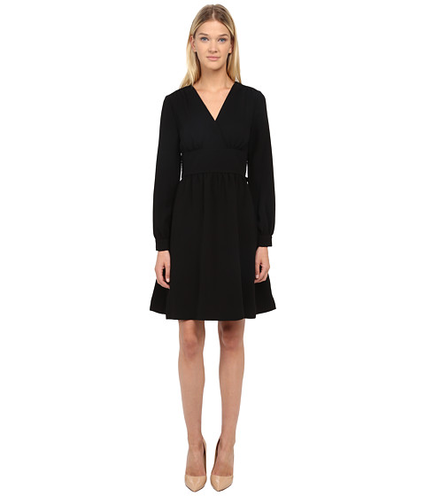 Kate Spade New York - Tie Waist Dress (Black) Women's Dress