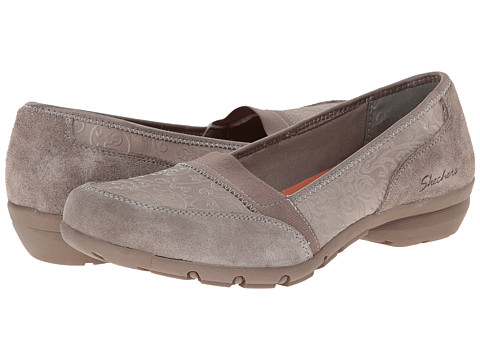 SKECHERS - Career - Substitute (Taupe) Women's Slip on Shoes