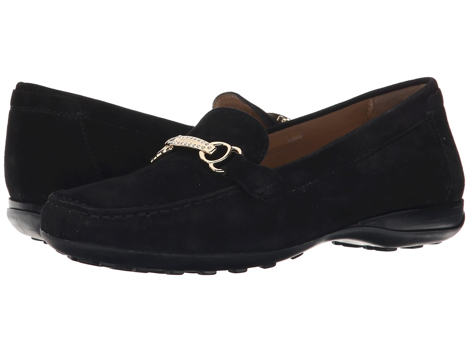 Geox - Donna Euro 53 (Black 1) Women's Slip on Shoes