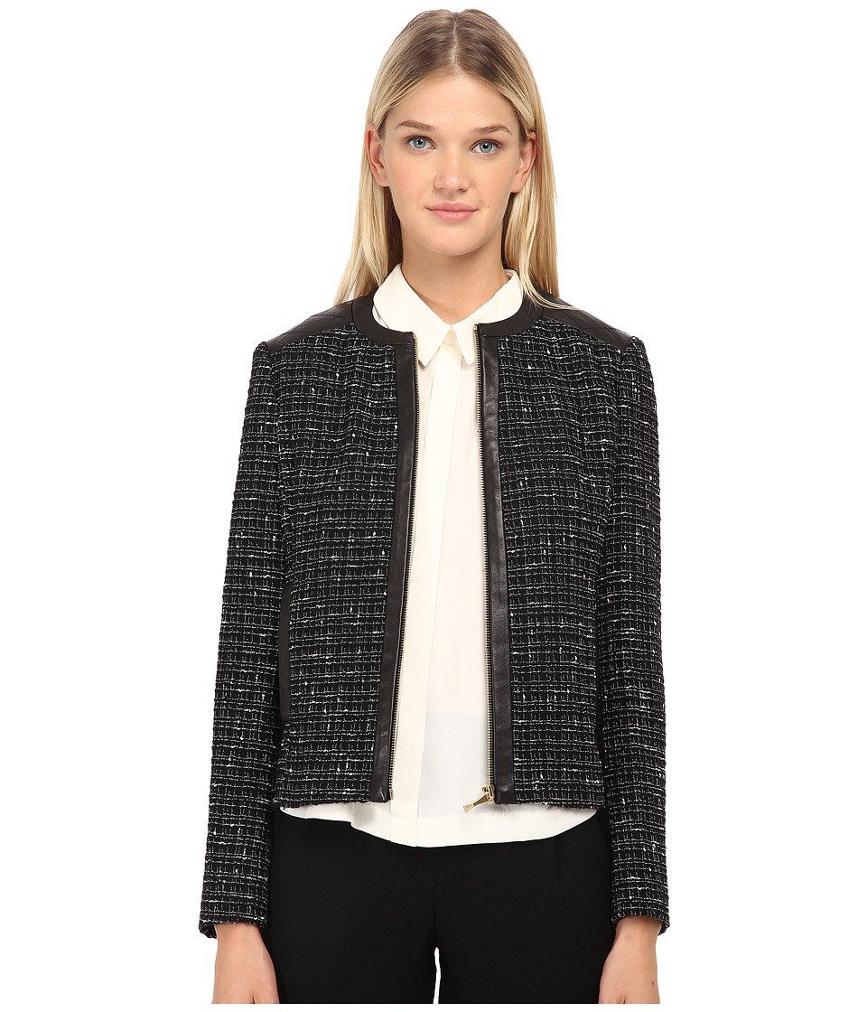 Kate Spade New York - Woodland Tweed Jacket (Black) Women's Jacket