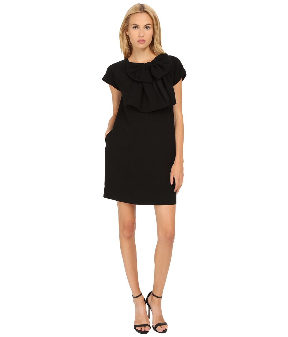 Kate Spade New York - Bow Shift Dress (Black) Women's Dress
