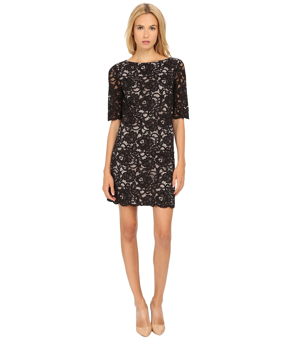 Kate Spade New York - Lace Shift Dress (Black) Women's Dress