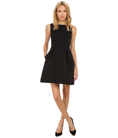Kate Spade New York - Textured Bow Dress (Black) Women's Dress