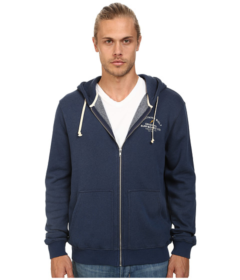 Lightning Bolt - Venice Surf Co Triblend Zip Hoodie (Dress Blue) Men