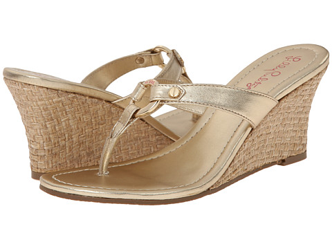 Lilly Pulitzer - Phipps Wedge (Gold Metallic) Women