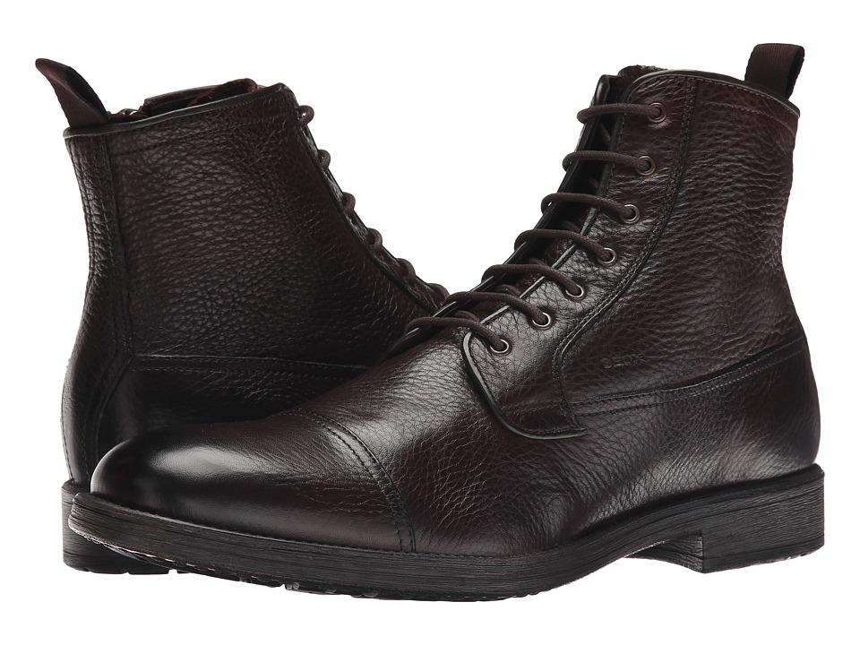 Geox - MJAYLON1 (Dark Brown) Men's Boots