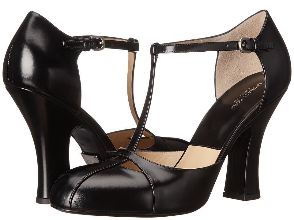 Michael Kors Chiara Runway (Black Dull Silver Spazzolato) High Heels