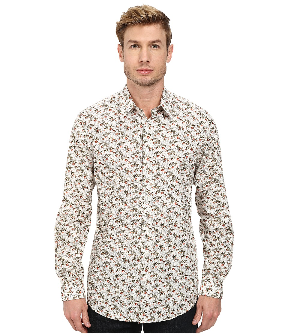 Lindbergh - Aop Shirt Long Sleeve (Off White) Men's Clothing