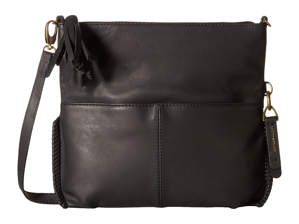Lucky Brand - Harper Foldover Crossbody (Black) Cross Body Handbags